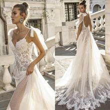 2021 сексуальное богемное свадебное платье es на тонких бретелях