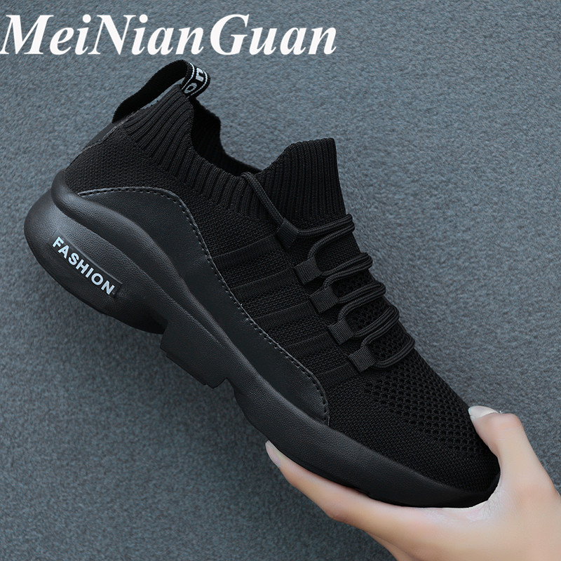 Mesh Breathable Sport Shoes Men Super Light Sneakers Man Round Toe Running Shoe Male Flat Brand Shoe Wild Men's Sports Shoes I11 image