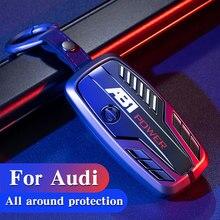Para Audi A3 A4 A4L B5 B6 B7 B8 B9 A5 A6 A6L C5 C6 Q3 Q5 Q7 S5 S7 RS3 Protecor TT Novo Shell chave Do Carro Chave Do Carro da Tampa Do Caso da liga do zinco