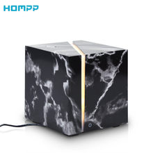 Marble Grain Ultrasonic Air Humidifier Essential Oil Aromatherapy Diffuser 200ml for Office Home Bedroom Living Room Study Yoga