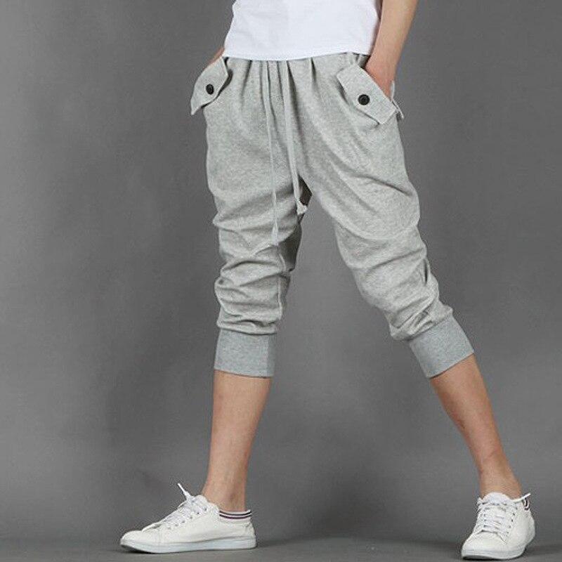 2015 Summer New Style Flare Cut Pants Men'S Wear Korean-style Sports Capri Pants Casual Pants 7 Points Harem Pants X61