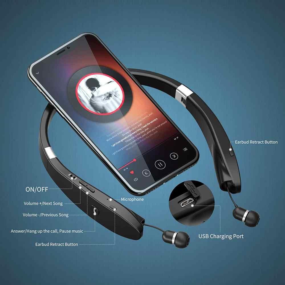 Amorno słuchawki Bluetooth słuchawki bezprzewodowe słuchawki z mikrofonem zestaw głośnomówiący słuchawki douszne słuchawki z pałąkiem na kark słuchawki z redukcją szumów zestaw słuchawkowy