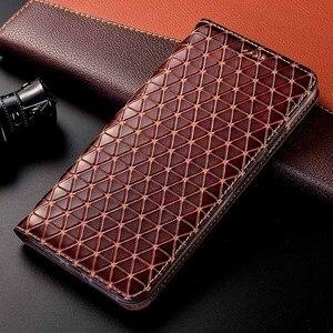 Image 1 - Magnet Natürliche Echte Leder Haut Flip Brieftasche Buch Telefon Fall Abdeckung Auf Für Samsung Galaxy A20 A30 A50 S 2019 EINE 30 50 32/64 GB