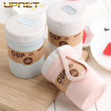 300Ml Portable Wheat Straw Lunch Box Breakfast Drink Porridge Cup Sealed Soup Cans To Work Soup Cup Creative Small Lunch Box(China)