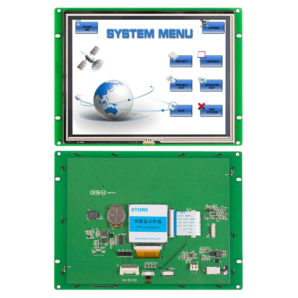 STONE 8.0 Inch HMI  Industrial TFT LCD with RS232/RS485/TTL Interface for Equipment Use