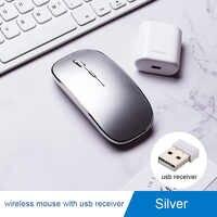Recarregável Mouse Sem Fio Do Mouse Gamer para xiaomi Macbook Air/pro Max OS Jogos Optical Mouse Super Mudo mouse sem fio sem fio
