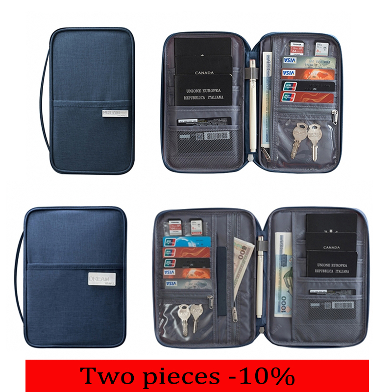 Travel Wallet Document-Bag Holde-Organizer Package Cardholder Waterproof Big-Card