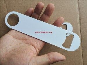 Image 5 - סובלימציה ריק מתכת לבן בקבוק פותחן פונקציה מתכלה הדפסת העברה חמה מתכת ריק חומר 10 יח\חבילה