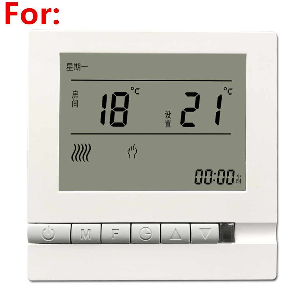 Floor Heating Intelligent Lcd Controller Thermostat Temperature Control Panel Control Switch Programmable