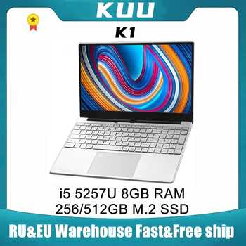 KUU K1 15.6Inch For Intel i5-5257U 3.10GHz Gaming laptop 512GB SSD IPS Screen Keyboard Backlight Fingerprint Unlock Notebook - DISCOUNT ITEM  20 OFF Computer & Office