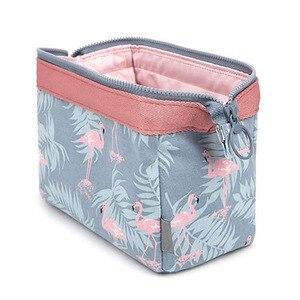 new fashion cosmetic bag Women waterproof Flamingo makeup bags travel organizer Toiletry Kits Portable makeup bags Beautician(China)