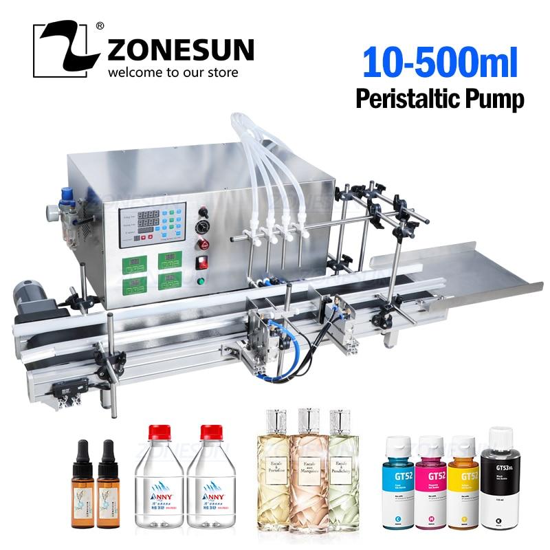 ZONESUN Automatic Desktop CNC Peristaltic Pump Liquid Filling Machine Hand Sanitizer Perfume Filling Machine Alcohol Filler