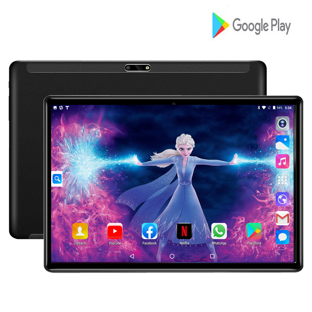 New Phablet 10.1 Inch Tablets Android 9.0 T10 2GB RAM 32GB ROM Tablet PC Quad Core 3000mAh GPS Android Tablet 10.1 + 64gb TF
