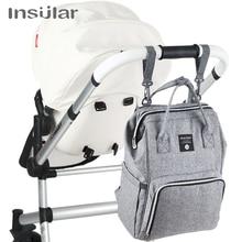 Insular, брендовый рюкзак для подгузников, сумка для мам, большая вместительность, сумка для коляски, для мам и детей, многофункциональная, водонепроницаемая, уличная, для путешествий, сумки для подгузников