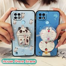 Back Cover Original Phone Case For OPPO Realme C21 foothold Anti dust phone stand holder Cute