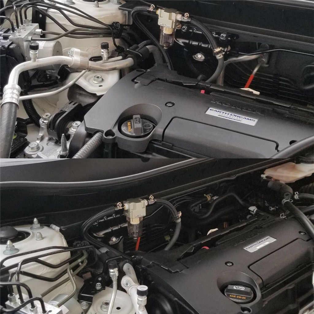Motor yağı ayırıcı yakalama rezervuarı tankı şaşkın Honda Civic Acura için motor yağı ayırıcı evrensel otomatik tip # ger