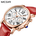 MEGIR Роскошные Лидирующий бренд женские красные часы Элегантные классические женские часы из натуральной кожи для девушек кварцевые женски...