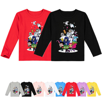 Z&Y 2-16Years Teen Titans Go T SHIRT Kids Casual Tees Children Costume Cartoon Games Clothes Boys Tshirts girls long sleeve tops