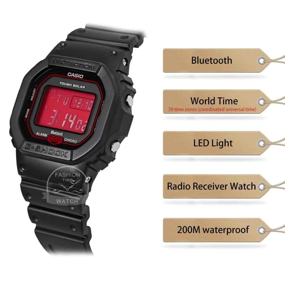 Casio Smart Watch Men G SHOCK นาฬิกาสุดหรูกีฬากันน้ำCasio g ช็อก smart watch ผู้ชายแบรนด์หรูชุด 200 เมตรกันน้ำทหารนาฬิกาสำหรับผู้ชายกีฬาบลูทูธพลังงานแสงอาทิตย์พลังงานแสงอาทิตย์วิทยุดิจิตอลนาฬิกาผู้ชาย relogio masculino