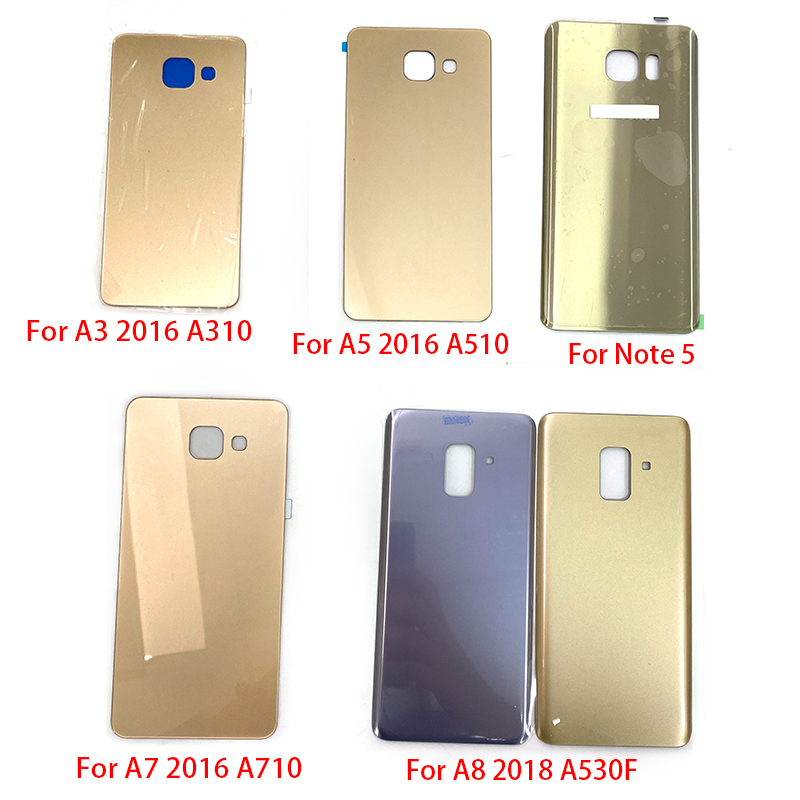 Battery Back Cover Case With Adhesive Stick For Samsung Galaxy S6 S7 edge plus A3 A5 A7 2016 A310 A510 A710 A8 2018 A520F Note 5 image