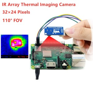 Waveshare IR Array Thermal Imaging Camera, 32×24 Pixels, 110° Field of View, I2C Interface, MLX90640(China)