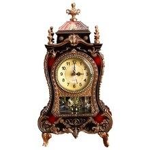 Reloj despertador Retro Reloj clásico reloj de escritorio Imperial decoración de gabinete de asiento péndulo reloj para TV decoración de sala de estar