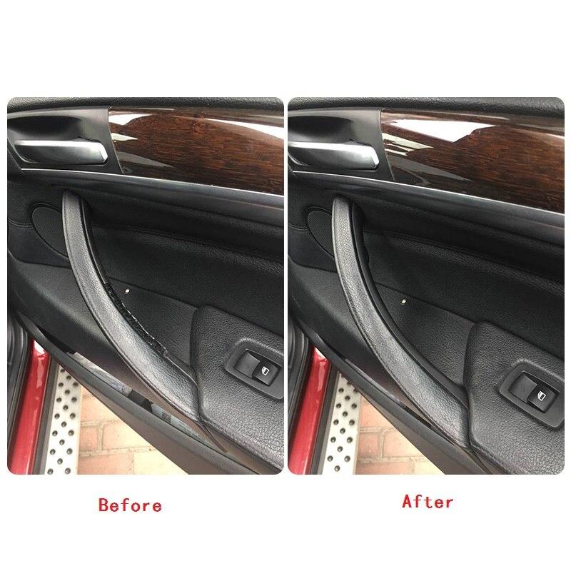 Pull-Trim-Cover Driver's-Seat Armrest Inner-Panel Interior-Door-Handle Beige Left Black