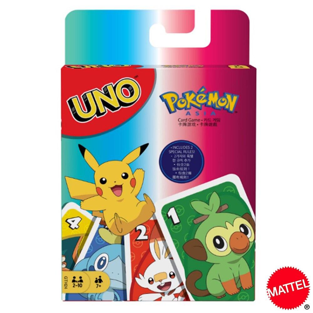 Mattel UNO Покемон меч и щит карточные игры Семья забавные развлечение настольная игра покер детские игрушки игральные карты