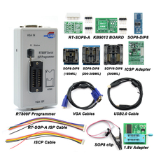 цена на 2020 Newest RT809F ISP Programmer + 11 Adapters 24-25-93 serise IC Offline board KB9012 + VGA LCD ISP programmer RT809F