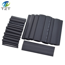 TZT 127pcs/set Assorted Heat Shrink Tube Black Wire Wrap Electrical Insulation Cable Sleeving 2-13mm