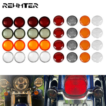 Motorcycle Turn Signals Light Indicator Lens Cover For Harley Touring Dyna Softail Sportster XL 1200 883 Road King Heritage pop up fuel tank screw motorcycle for harley sportster 883 1200 xl883 1200 48 72softail dyna touring 1996 2016 gas cap oil cover