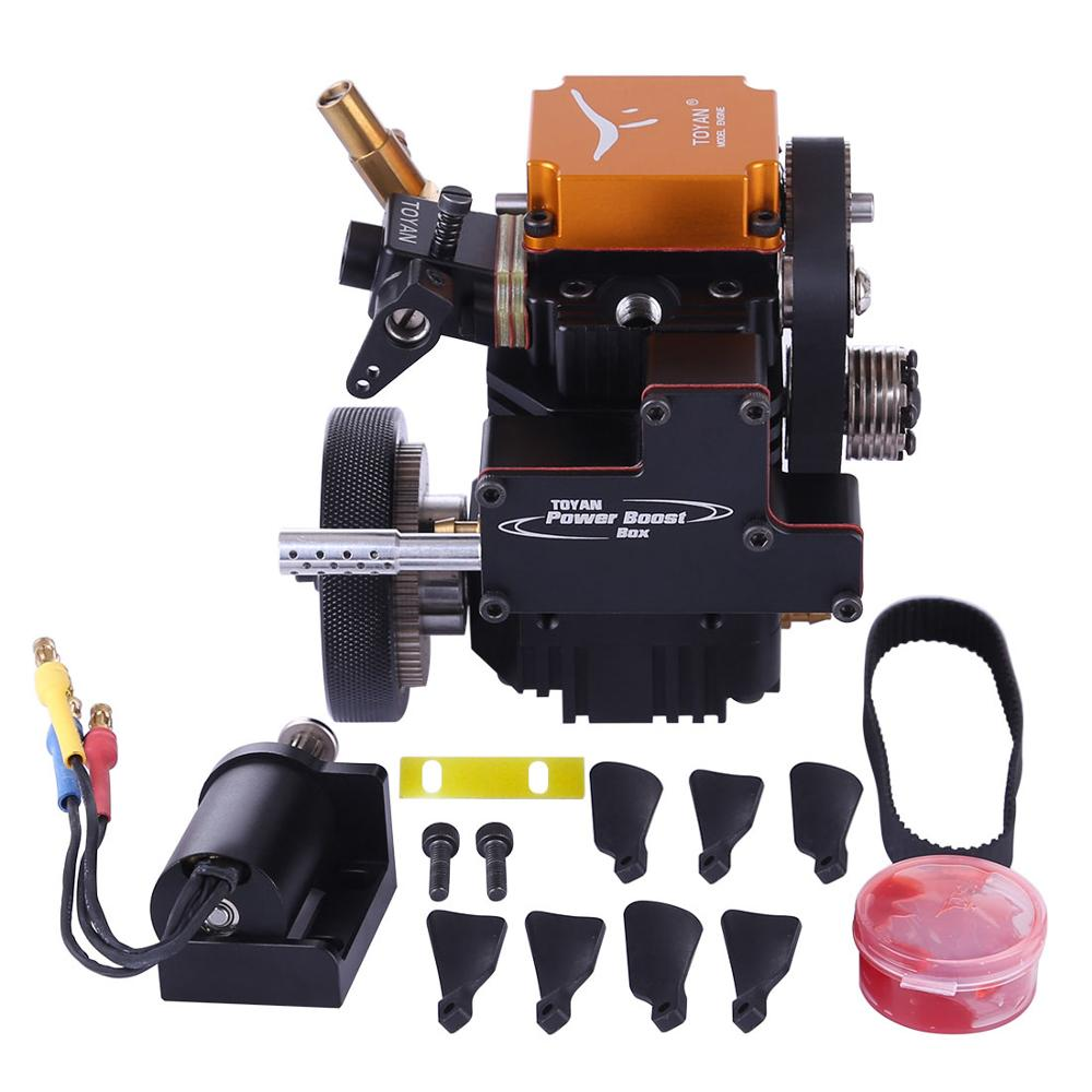 Surwish 1 Set Toyan Four Stroke Gasoline Model Engine With Starting Motor For 1:10 1:12 1:14 RC Car Boat Airplane - FS-S100G