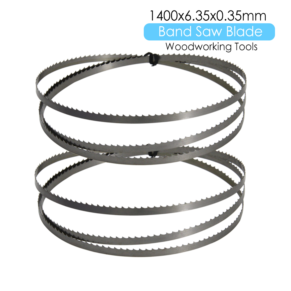 2pcs Wood Band Saw Bandsaw Blade 1400 X 6.35 X 0.35mm Woodworking Tools Accessories For Fox Draper Einhell Charnwood TPI 6 10 15
