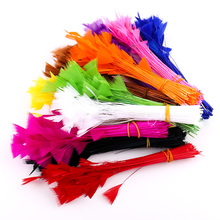Best Selling 50 Pieces Of Natural Dyed Chicken Hair 8-15CM Wedding Dress Fluffy Art DIY Hat Jewelry Holiday Scene Decoration