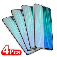 4Pcs Full Protective Glass For Xiaomi Redmi Note 10 8 7 9s 9 Pro Max Tempered Screen Protector For Redmi 9 Poco X3 NFC Pro Glass
