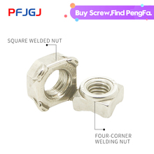 Peng Fa DIN928 304 Stainless Steel Quadrilateral Welded Nut Spot M4M5M6M8M10M12