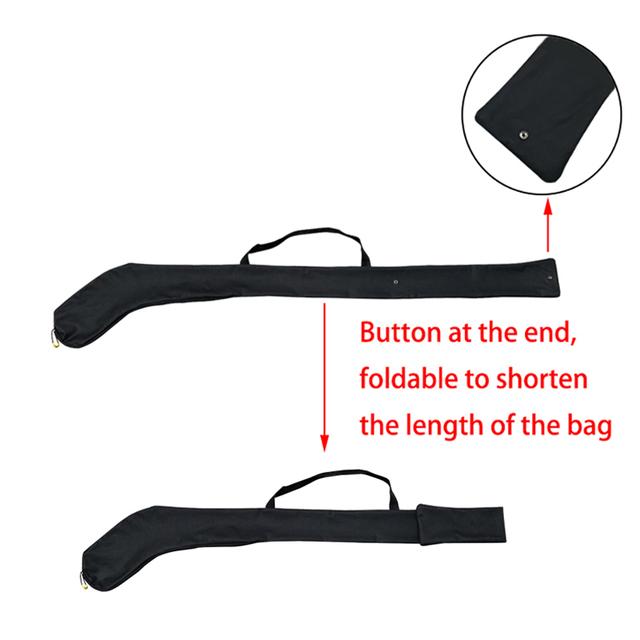 Portable One Shoulder Ice Hockey Stick Bag High Quality Black Light  Waterproof Stick Adjustable for Ccm Hockey Stick