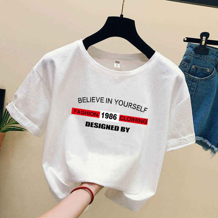 2019 mode Cool flamant imprimé femme T-shirt blanc coton femmes t-shirts été décontracté Harajuku T chemise de grande taille haut pour femme