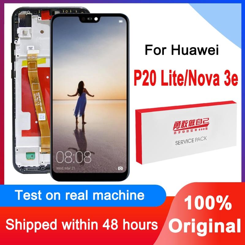 100% Оригинальный 5,84 ''запасная часть для замены процессора изображений ЖК для Huawei P20 Lite / Nova 3e, ЖК-дисплей, сенсорный экран, дигитайзер, для сбор...