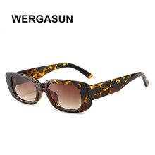 WERGASUN 2020 Square Sun Glasses Luxury Brand Travel Small Rectangle Su