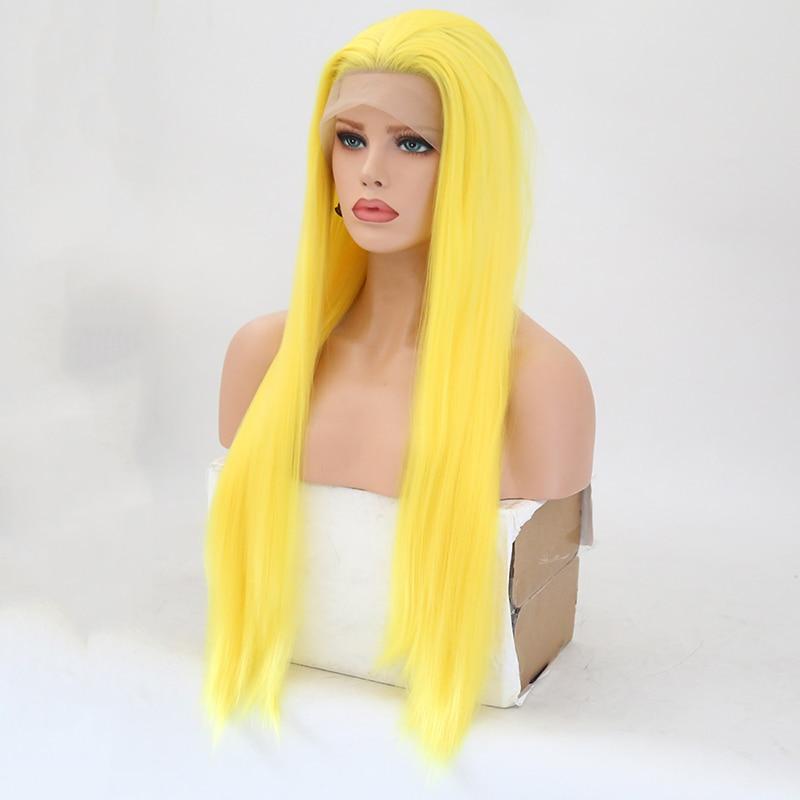 de cabelo sintético rendas frente glueless cosplay