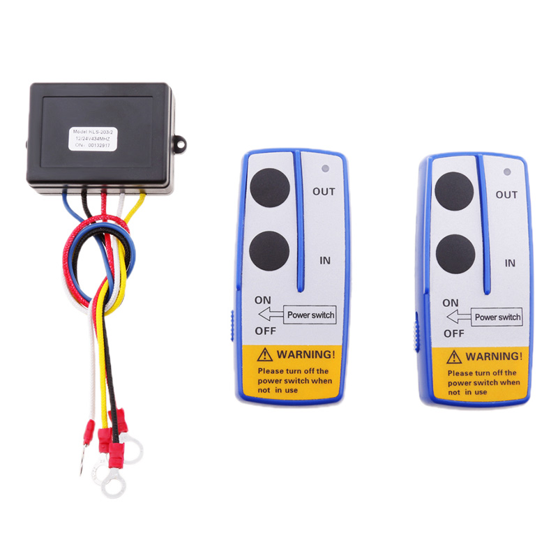 Image 5 - 1 Set Car ATV SUV Wireless Winch Remote Control Kit Dual Switch 30m Power In/Out Control From 55*40*25mm-in Car Switches & Relays from Automobiles & Motorcycles