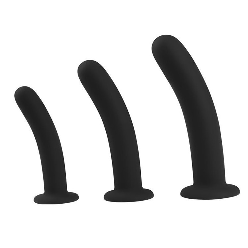 3 Size Suction Cup <font><b>Dildo</b></font> Black <font><b>Anal</b></font> plug <font><b>Dildo</b></font> Bondage Soft <font><b>Strapon</b></font> Penis <font><b>Gay</b></font> <font><b>Sex</b></font> Toys For Women Man prostata erotic Butt Plug image