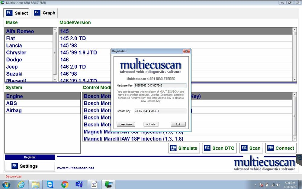 Multiecuscan 4.6 R1 REGISTERED [2020]