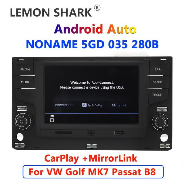 راديو سيارة كاربلاي يعمل بنظام أندرويد 6.5 بوصة MQB MIB Noname 5GD035280B mirror orlink For VW Golf 7 MK7 السابع Passat B8 5GD 035 280 B