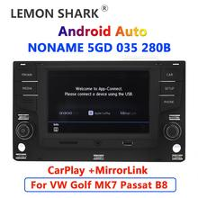 "Android auto carplay carro rádio 6.5 ""mqb mib noname 5gd035280b mirrorlink para vw golf 7 mk7 vii passat b8 5gd 035 280 b"