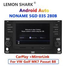 "Android otomatik Carplay araba radyo 6.5 ""MQB MIB Noname 5GD035280B MirrorLink VW Golf 7 için MK7 VII Passat B8 5GD 035 280 B"