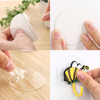 20 pcs 6cm home decoration magic sticker double-sided tape bathroom kitchen hook suction tile Diy decoration fixed reusable
