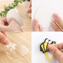 20 pcs 6cm home decoration magic sticker double-sided tape bathroom kitchen hook suction tile Diy fixed reusable