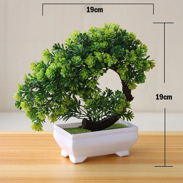 Artificial Plants Potted Bonsai Green Small Tree Plants Fake Flowers Potted Table Ornaments For Home Garden Party Hotel Decor 3